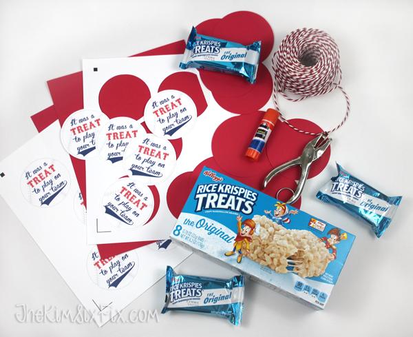 Supplies to make rice krispie treat gifts