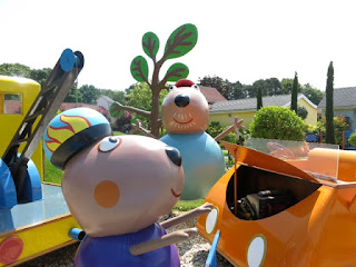 Danny Dog accompanies one of the rides at Peppa Pig World