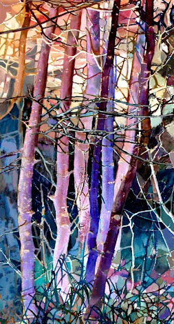 """The """"Aspen Trees"""" piece from the """"2000"""" collection"""