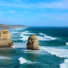 Twelve Apostles by Stanley Poh - Landscapes Waterscapes ( nature, boulder, beach, rocks )
