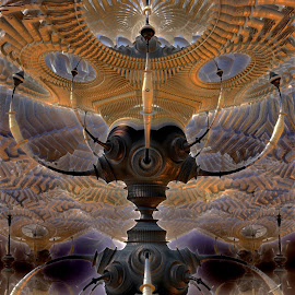Originally Equipped by Rick Eskridge - Illustration Sci Fi & Fantasy ( fantasy, twisted brus, jwildfire, mb3d, fractal )