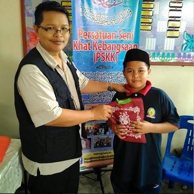 abang koning menang pertandingan seni khat di karnival keusahawanan 2015