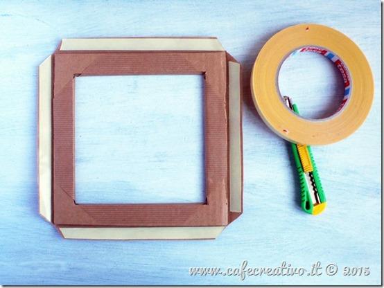 come fare cornice cartone e carta - tutorial by cafecreativo (5)