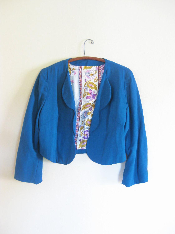 Vintage BOLERO Jacket TEAL