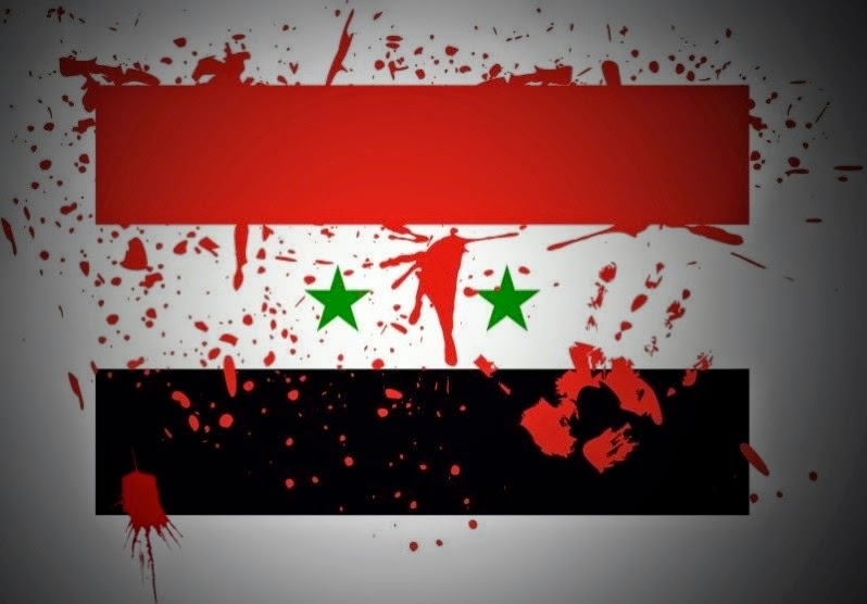 bloody Syrian flag