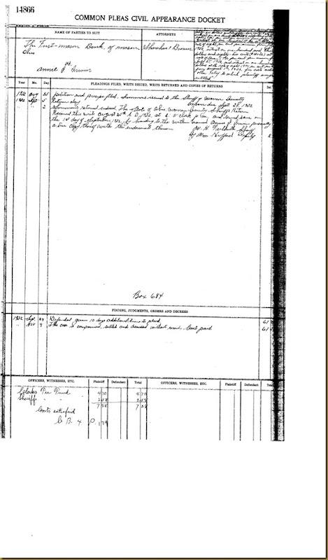 The First Mason Bank of Mason sues Anna J. Irwin 1932 2
