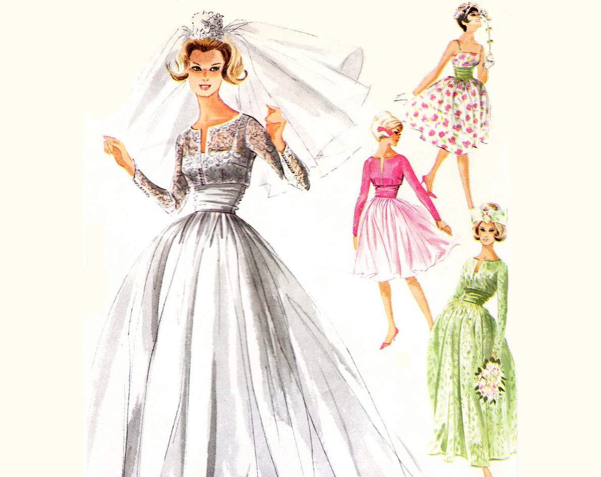 Wedding Dress Pattern Vintage