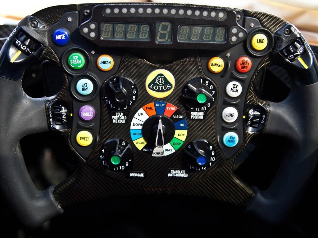 прикольный руль Lotus E21