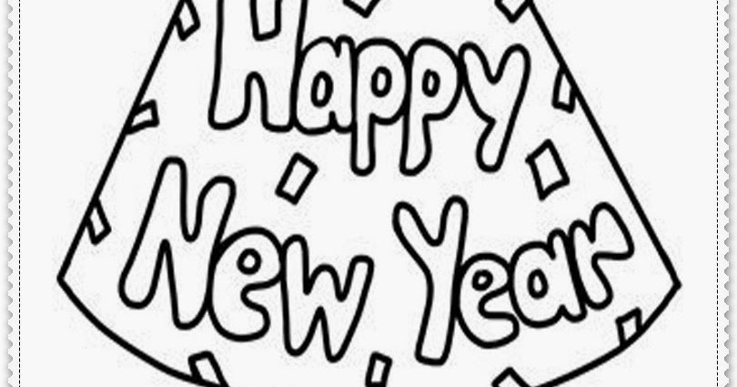 free new years coloring pages printable