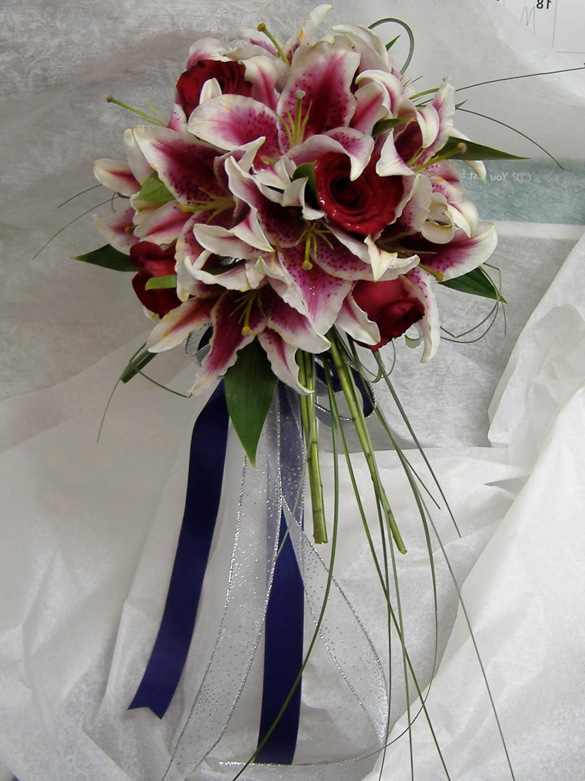 wedding flowers with lilies