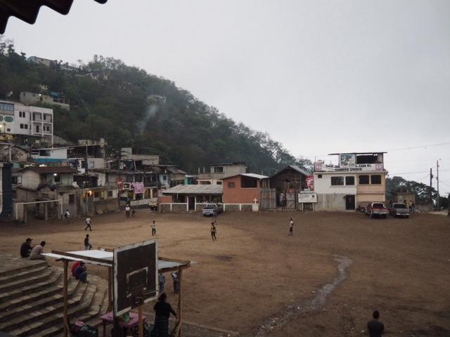 Town square of San Jorge La Laguna, Guatemala