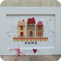 5 - sizzix big shot -  home decor - frame - cornice - fustelle