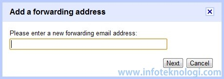 Add forwarding email in Gmail