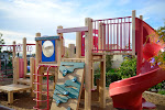 Different schools have different playground set-ups. Here is the hilltop playground at our Carlsbad Village campus.