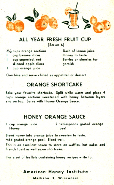 Honey Orange Sauce