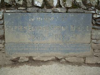Plaque on the bridge.