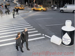 giant advertisements using giant objects