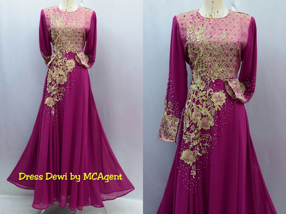 Dress labuh prada lace dress