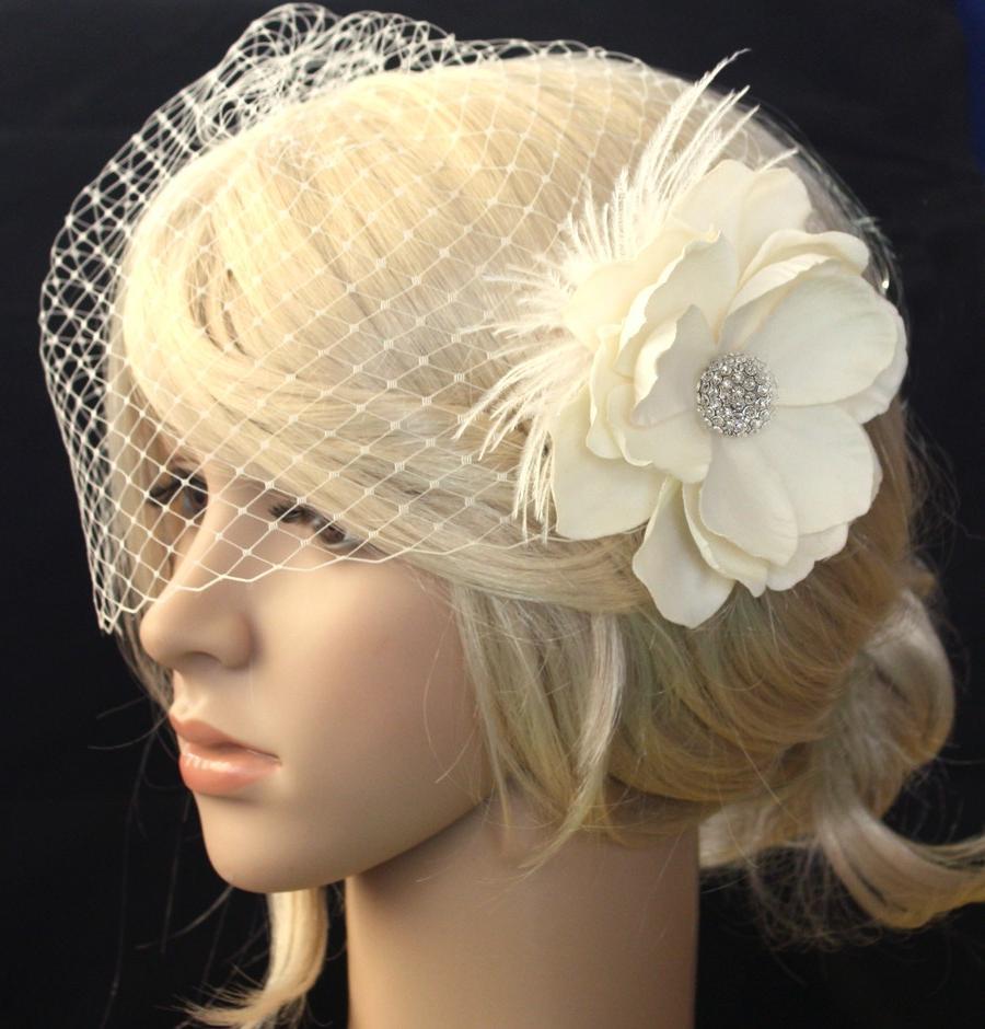 Ivory Bridal veil and Vintage