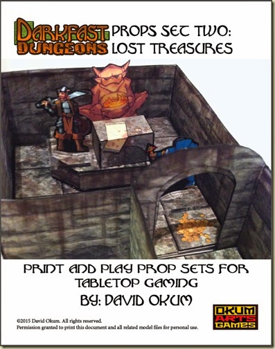 Darkfast Dungeons Props Set Two Lost Treasures