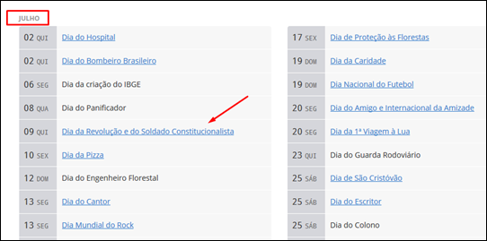 Encontre todas as datas comemorativas, feriados nacionais e dias importantes do ano no Brasil - Visual Dicas