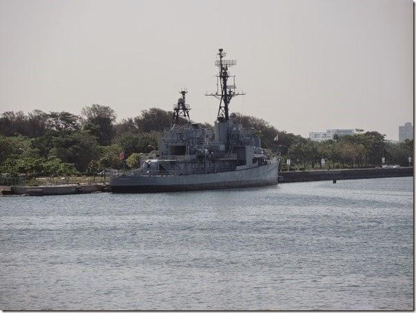碧海碼頭的德陽艦