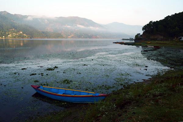 Рассвет на озере Фева покхара