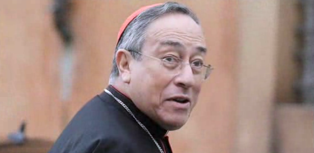 Cardinal Oscar Rodríguez Maradiaga, Pope Francis' closest adviser, castigated conservative climate change skeptics in the United States Tuesday, 12 May 2015, blaming capitalism for their views. Photo: inform