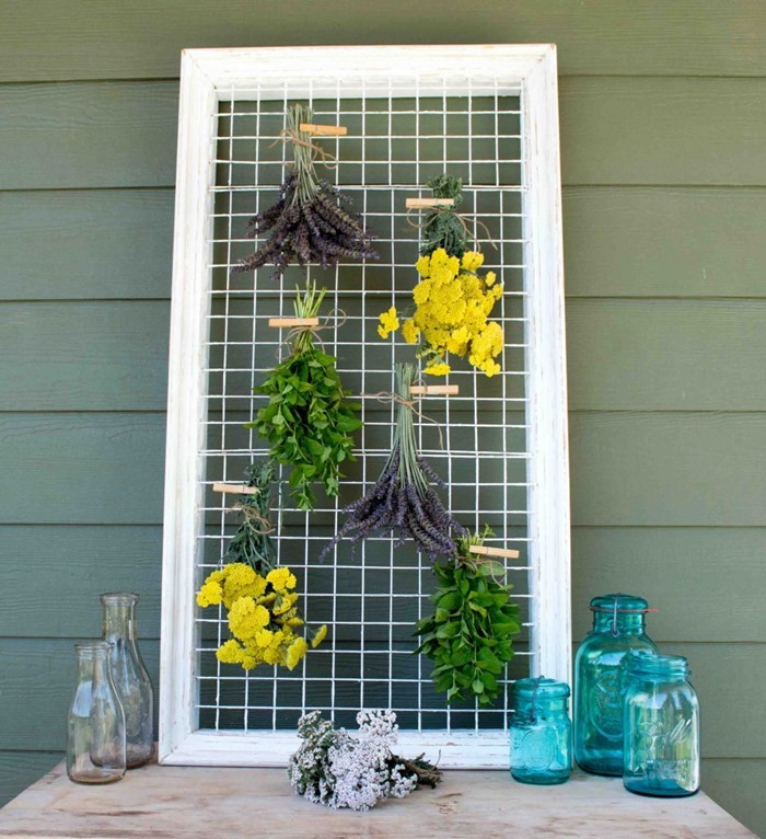 Picture-Frame-Herb-Flower-Drying-Rack-1