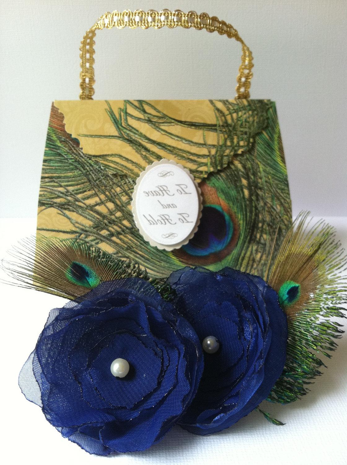 Peacock Feather Shoe Clips in