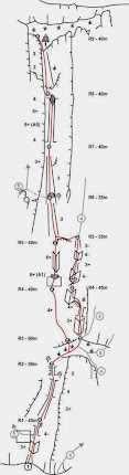 2013.10.20 - Vratza - Traseul Rainbow 6+ (5+ A1), 300m, 9lc