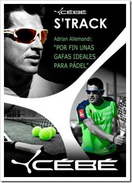 Adrián Allemandi y sus gafas deportivas CEBE S´TRACK