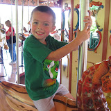 Bryan riding on the carousel at the Nashville Zoo 09032011a