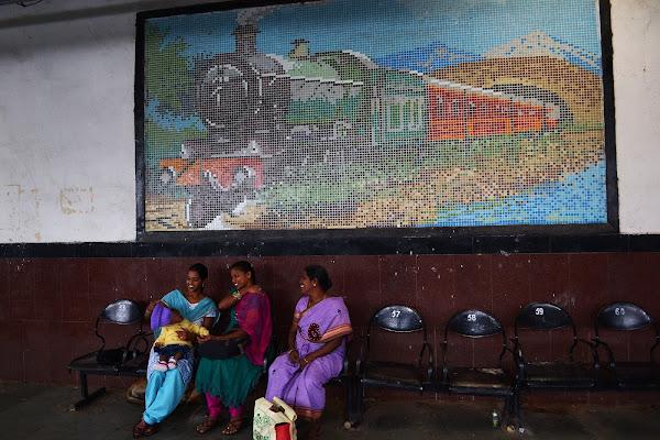 индия поезд вокзал железная дорога