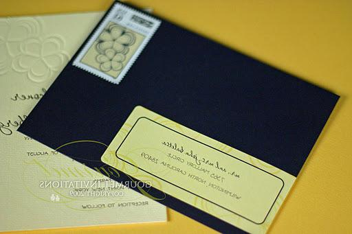 Navy blue outer envelopes were