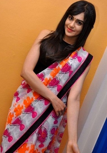 adah sharma saree hot