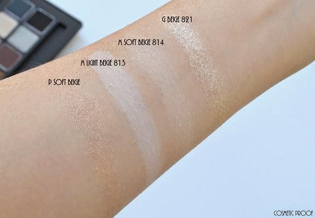 shu uemura 16 shades of nude eyeshadow palette swatches review (5)