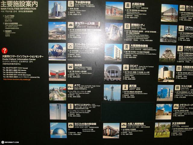 osaka sightseeing map in Osaka, Osaka, Japan