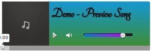 audio player blogger widget