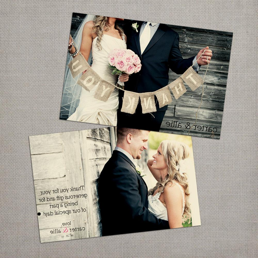 Allie - Wedding Thank You Cards. From NostalgicImprints