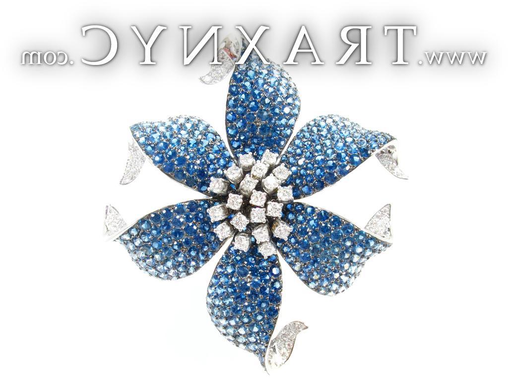 Gold Blue Sapphire Diamond