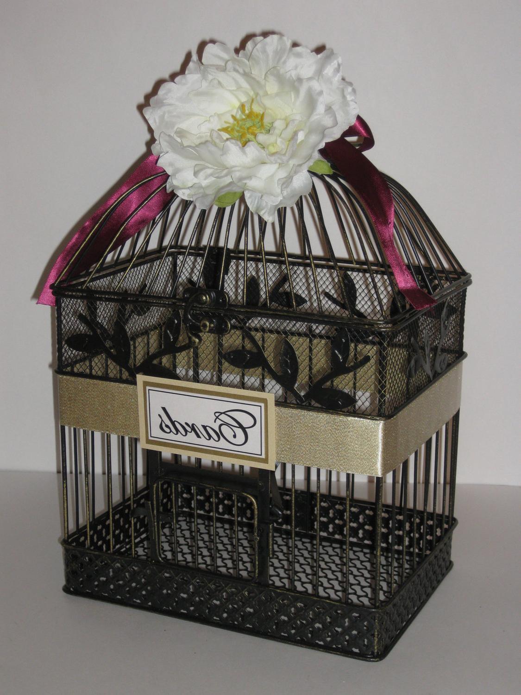 VINTAGE bird cage card