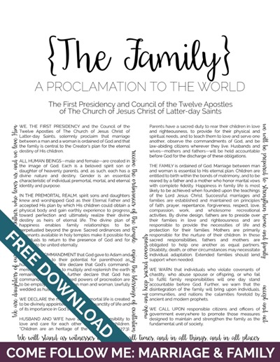 Come Follow Me: Marriage & Family | The Family: A Proclamation to the World with the Young Women Theme