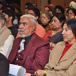 In the foreground, from left, Mrs Gurcharan Ghuman, Mr J S Ghuman and Bhai Balbir Singh