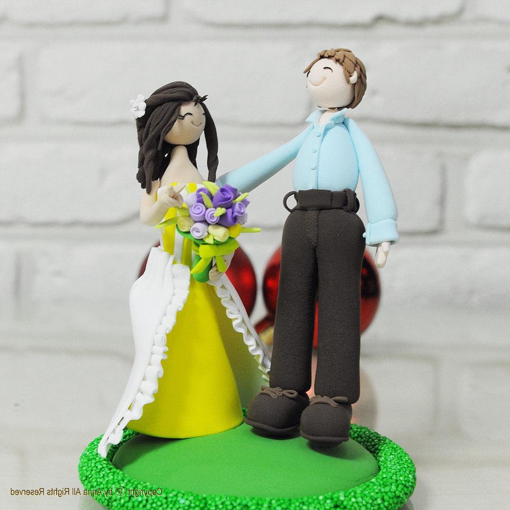 Outdoor theme wedding cake topper Decoration Keepsake. From annacrafts