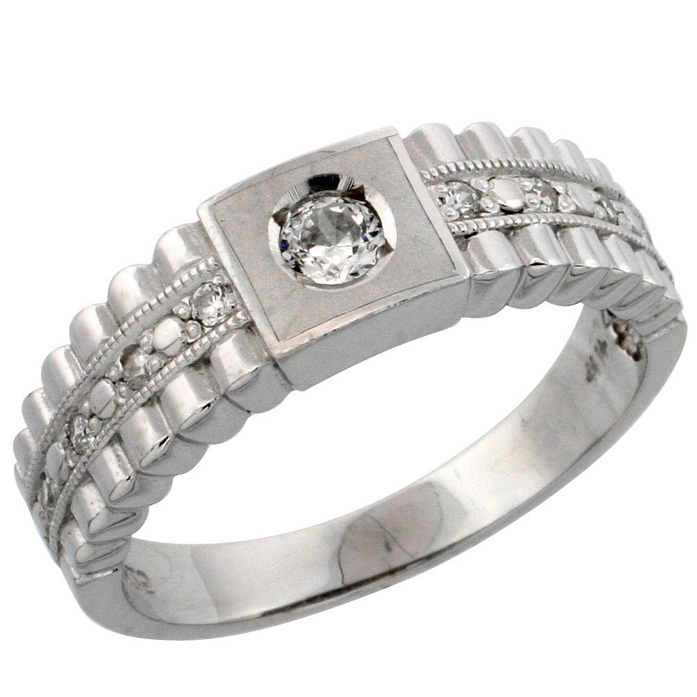 Mens CZ Wedding Ring