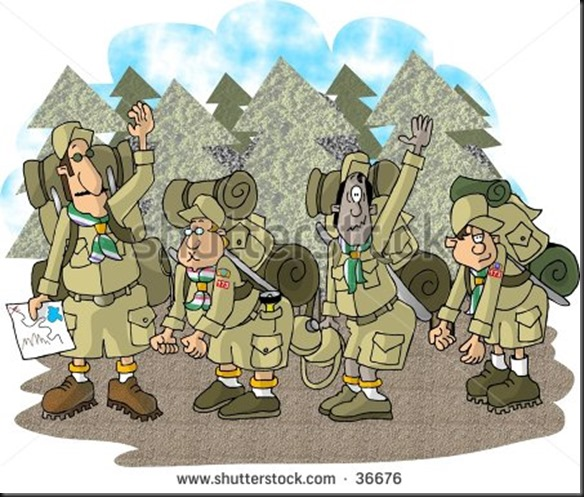 stock-photo-clipart-illustration-of-a-boy-scout-troop-on-a-hike-36676