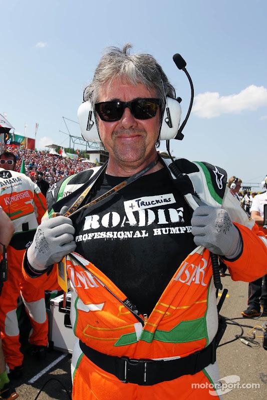 Нил Дики в футболке Truckies Roadie Professional Humper Хунгароринг Гран-при Венгрии 2012
