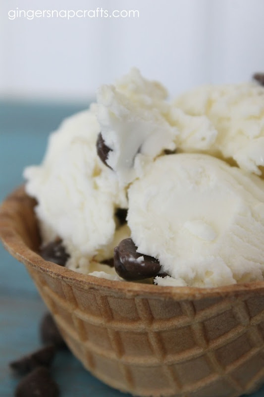 no churn icecream with chocolate