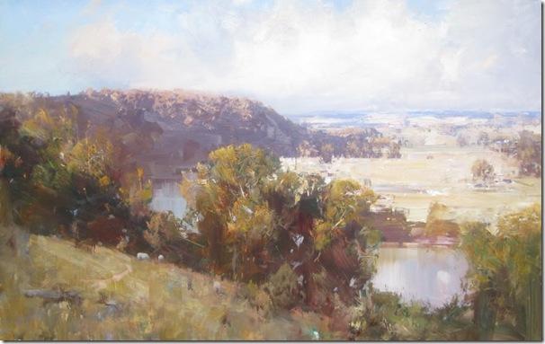 Jugiong Landscape-Ken-Knigth-ENKAUSTIKOS
